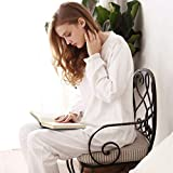Junson Sleepsuits Spring and Autumn Princess Nightgowns White lace Palace Tracksuit Long Sleeve Home Set (Size : L) for You (Size : X-Large)