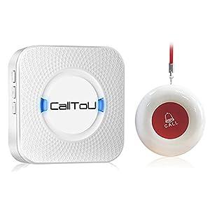 CallToU Wireless Caregiver Pager Receiver 1 SOS Call Button Suresafe Alarm Nurse Alert Patient Help System for Home…