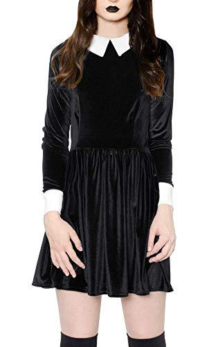 Spadehill Halloween Party Dress Women Velvet Peter