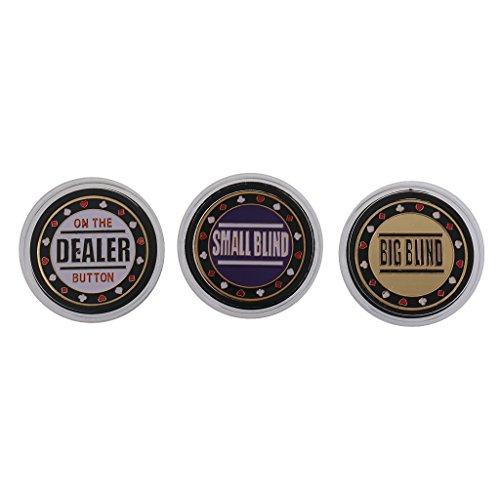 Jili Online 3pcs Metal Token Coin Small Big Blind Dealer Poker Chips Cards Guard Protector - Poker Chip Set Coin Chips