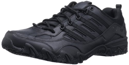 Skechers for Work Women's Compulsions Chant Lace-Up Work Shoe, Black, 10 XW US ()
