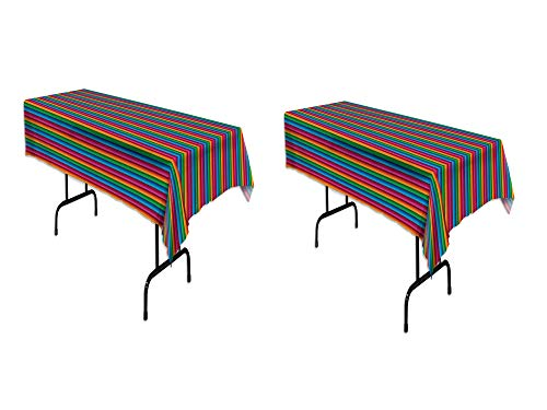 Beistle 58225 Fiesta Table Cover (54 In. X 108 In.) (2 pack)