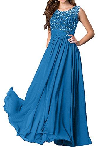 azul para oscuro Vestido trapecio mujer Topkleider 0ZHI0q