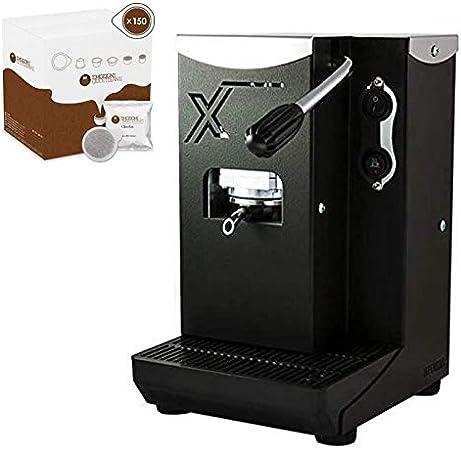 Aroma X - Cafetera de monodosis (44 mm, tamaño pequeño, fácil de usar, muy buen rendimiento, bajo consumo de energía, incluye cápsulas) small Negro: Amazon.es: Hogar