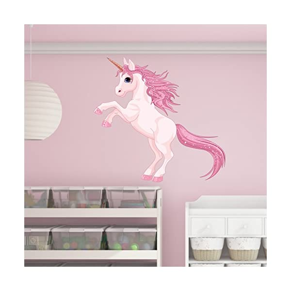 Pretty Pink Unicorn Wall Decal by Style & Apply - Wall Sticker, Vinyl Wall Art, Home Decor, Wall Mural - SD3055-18x18 3