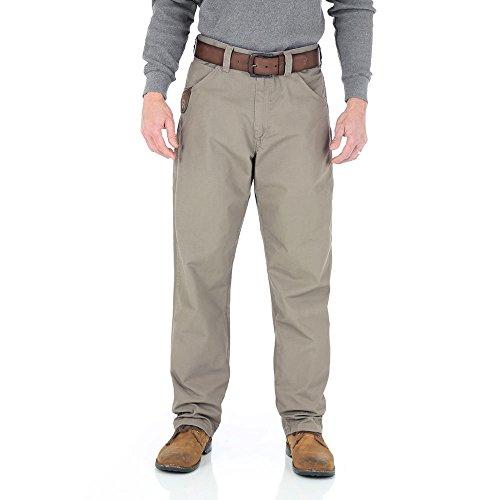 Wrangler Men's Riggs Workwear Ripstop Technical Pant, Dark Khaki, 38x30 (Workwear Riggs)