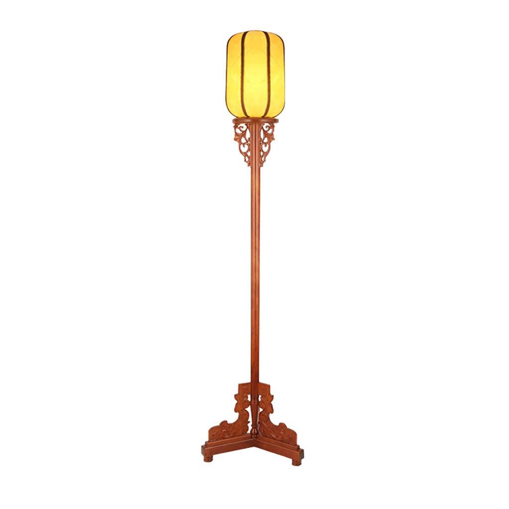 Lámpara de pie de Madera Maciza, lámpara Decorativa Antigua ...
