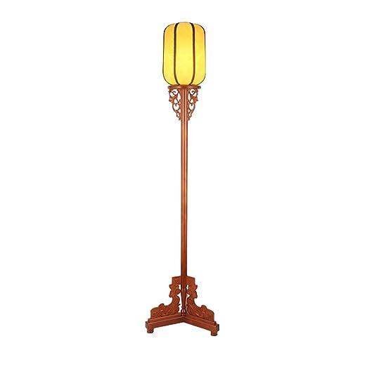 LXHLDD Lámpara de pie Lámpara de pie de Madera Maciza, lámpara ...