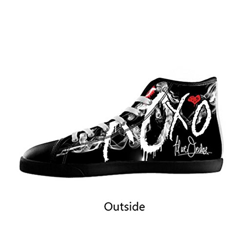 best loved 37f16 42abd Custom Men The Weeknd XO Canvas Shoes High Top Sneakers chic