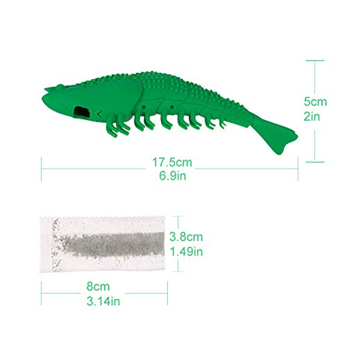 BKpearl 2 Pcs Interactive Cat Toys Catnip Toys Cat Toothbrush Chew Toys, Crayfish Shape Pet Toy Teeth Cleaning Chew Toy for Kitten Kitty Cats Teeth Cleaning 4