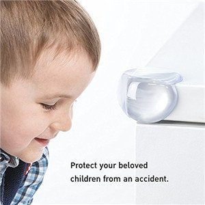20 Pack | Baby proofing | Clear Corner Guards | Bumpers for Furniture | Small Clear Corner Protectors | Sharp Edge Protection