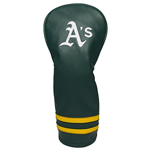 Team Golf MLB Oakland Athletics Vintage Fairway Golf Club Headcover, Form Fitting Design, Retro Design & Superb Embroidery