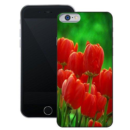 Tulpen | Handgefertigt | iPhone 6 6s (4,7') | Schwarze Hülle