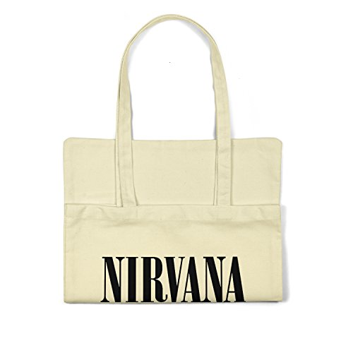 "Bolsa de tela ""Nirvana"" - tote bag shopping bag 100% algodón LaMAGLIERIA, Natural"