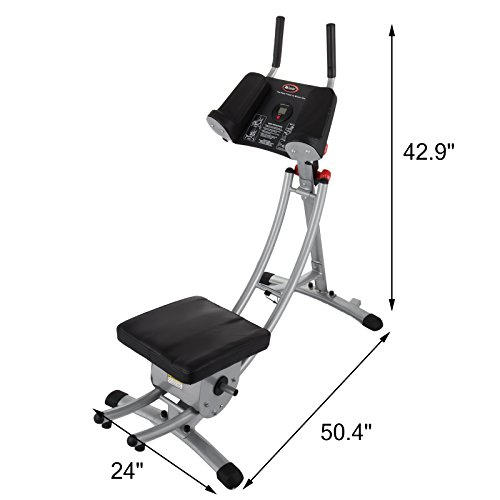 Popsport Abdomen Machine 330LBS Abdominal Coaster Abdomen Exercise Equipment with Adjustable Seat for Abdominal Muscle Training (Ab Coaster with 4 Dumbbells) by Popsport (Image #2)