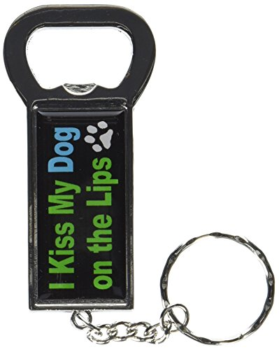Graphics and More Ring Bottlecap Opener Key Chain, I Kiss...