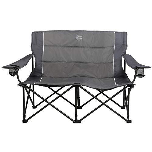 Timber Ridge Spruce Duo Loveseat Oversize Quad-Folding Camp Seat, ()