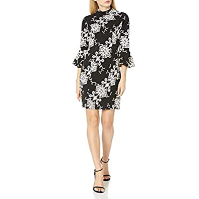 Adrianna Papell Women's Fit and Flare Sleeve Sheath at Women's Clothing store
