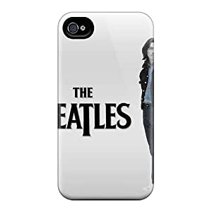 AaronBlanchette Iphone 4/4s Great Hard Phone Cases Support Personal Customs Lifelike The Beatles Pattern [kdY1385BIxH]