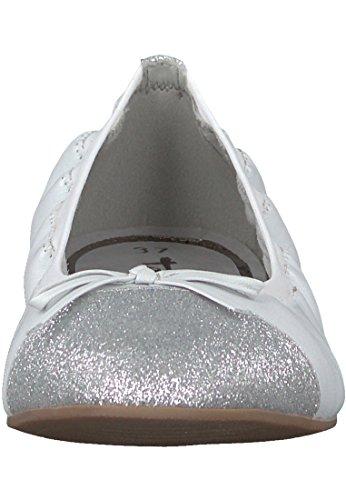 Tamaris Dames 22122 Gesloten Ballerinas Wit