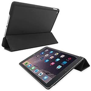 Snugg iPad 3 & iPad 4 Ultra Thin Smart Case in Black - Flip Stand Cover with Auto Wake and Sleep for Apple iPad 3 & iPad 4