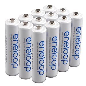 (SANYO RECHARGE 1500 TIMES eneloop AAA Ni-MH Pre-Charged Rechargeable Batteries X 12 batteries)
