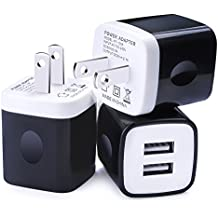 iPhone Charger Brick, HUHUTA 3Pack 2.1A Home Travel Rapid USB Power Adapter Wall Plug for iPhone 7 7s, 6 6s, iPad, Samsung Galaxy S8 S7 S6, Note4, 5, Nexus, HTC, Oneplus, Google, Motorola, Blackberry