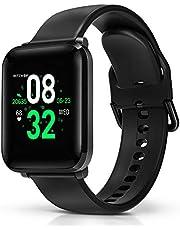 Smartwatch, BlitzWolf IP68 waterdichte smartwatchs fitness tracker sporthorloge intelligent polshorloge 1,3inch HD-scherm met hartslagmeter, stappenteller, slaapmonitor voor iPhone Android