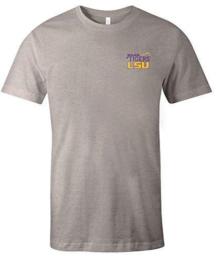 NCAA LSU Tigers Adult NCAA Hand Type Short sleeve Triblend T-Shirt,Medium,Oatmeal