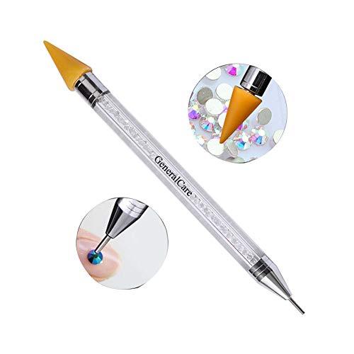 GeneralCare Rhinestone Picker Wax Pencil Pen, Double Head Pick Up Applicator Tool for Nail Studs, Gems, Crystal, Jewel, Diamond, Stones