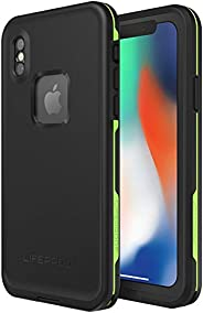 Lifeproof FRĒ SERIES Waterproof Case for iPhone X (ONLY) - Retail Packaging - NIGHT LITE (BLACK/LIME)