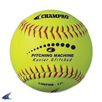 CHAMPRO Kevlar Stitched Softballs by the Dozen (Optic Yellow, 12-Inch) by CHAMPRO