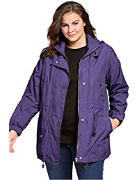 Women's Plus Size Jacket, Anorak In Weather-Resistant...