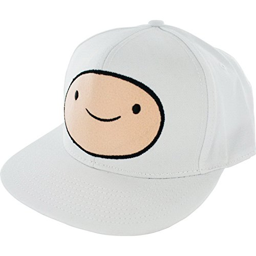 Adventure Time Finn Face Snapback Adjustable Baseball Cap White ()