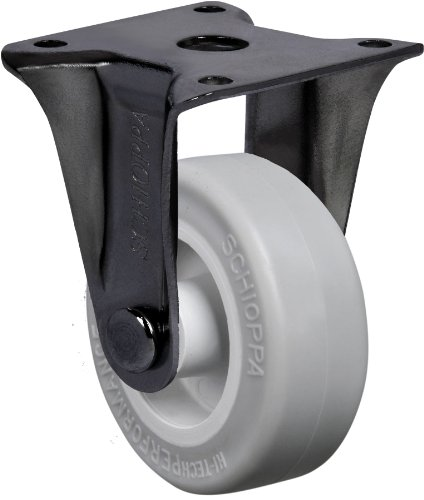 Schioppa-FLAP-210-SPBR-2-50-mm-Rigid-Non-Brake-Caster-Non-Marking-Very-Soft-Rubber-Wheel-70-lbs-Plate-1-2132-x-1-2132-BH-1-14-x-1-14