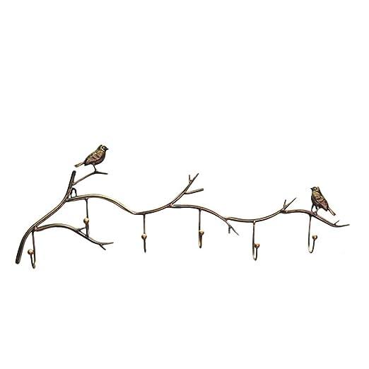 SUPERLOVE Perchero Montado En La Pared,Perchero De Hierro Art.Gancho En Forma De Ave Gancho De Perchero Simple Conveniencia Y Perchero De Múltiples ...