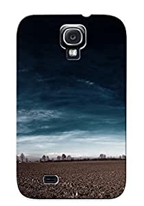 Durable Case For The Galaxy S4 - Eco-friendly Retail Packaging(dirt Road Under The Dark Sky )