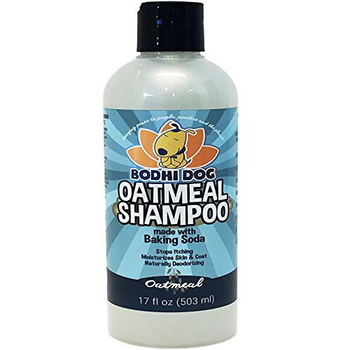 All Natural Anti Itch Oatmeal Dog Shampoo and Conditioner | Hypoallergenic Conditioning Deodorizing Formula for Dogs Cats & Pet | Treatment Wash Soothe Dry Itchy Skin | Aloe for Allergy Relief ()