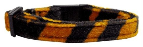 Mirage Pet Products Animal Print Nylon Cat Safety Collars, Tiger