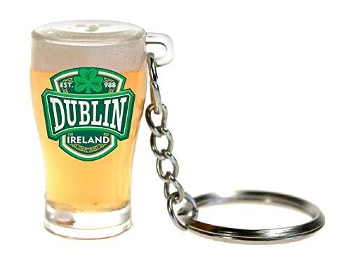 Amazon.com: PVC Vaso de cerveza llavero con Dublín Varsity ...