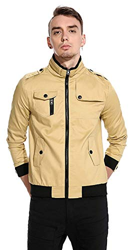 Long Clásico Béisbol 5 Chaqueta Unisex Basic Laisla Jacket Color Khaki Outerwear Hop Chaquetas Hip Harrington Bomber Size Chicos fashion De Sleeve Urban 2XL Cpfqqxw6v