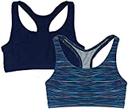 Popular Girl's Print and Solid Racerback Sports Bra - 2
