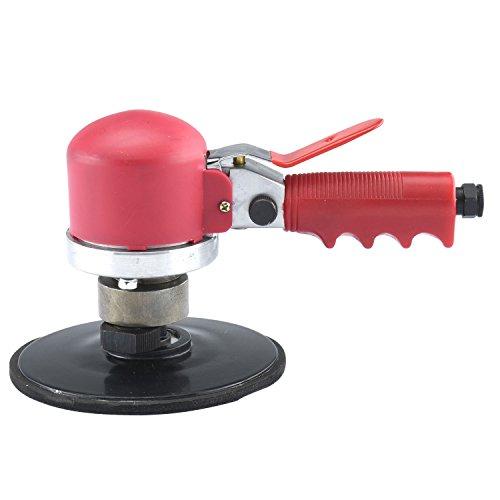 ESKALEX>>6'' Heavy Duty Quiet Dual Action Air Sander Tool And Free Speed: 10,000rpm Air Consumption: 4cfm Air Pressure: 90psi Air Inlet: 1/4NPT Air Hose: 3/8'' Pad Diameter: 145mm by ESKALEX
