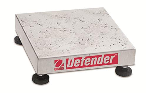 Ohaus Defender 304 Stainless Steel NTEP Certified Washdown Square Bench Scale Base, 100kg x 10g