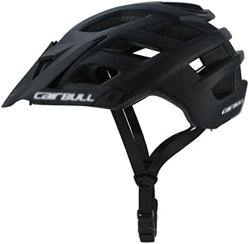 FH 自転車用ヘルメット、男性用および女性用の超軽量マウンテンバイク用ヘルメット、ユースライディング、調節可能なストラップおよびダイヤル - 取り外し可能なサンバイザーを備えた軽量の全体的なモールディング (Color : Black)