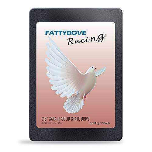 FATTYDOVE 2.5 inch SSD 120GB SATA3 SSD Drive 2.5 inch 6Gb/s for PC/Laptop Fast Read/Write Speed with SATA III Cable (120GB SSD Drive)