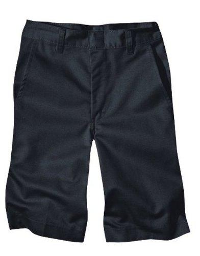 Dickies Boys' Husky Classic Fit 8-20 Flat Front Short - School Uniform, Black, 12