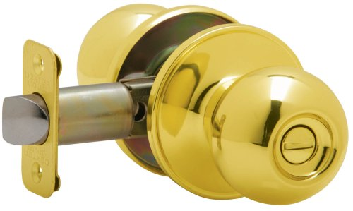 Dexter by Schlage J40VCNA605 Corona Privacy Knob, Bright Brass
