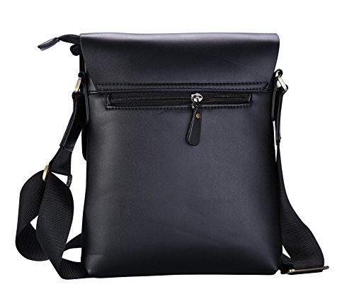 84c45cb5b793 VIDENG POLO® Classic Vintage Genuine Leather RFID Blocking Secure Cross  body Briefcase Business Laptop Messenger