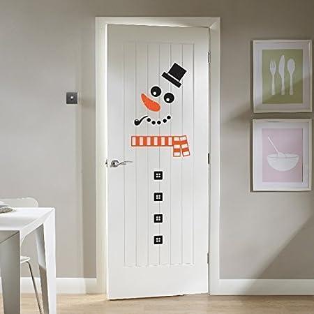 Christmas Snowman Sticker Xmas Decal Decoration For Fridge Kitchen Unit Or Door & Christmas Snowman Sticker Xmas Decal Decoration For Fridge Kitchen ...